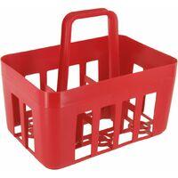 Porte-bouteilles plastique 6 bouteilles 29 x 20,5 x 32 rouge