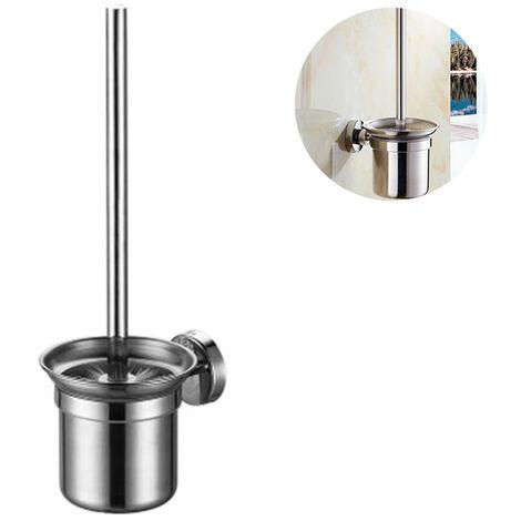 Porte-brosse pour cuvette de toilette pour salle de bain mural en verre / acier inoxydable résistance à la rouille outils de nettoyage porte-brosse de toilette
