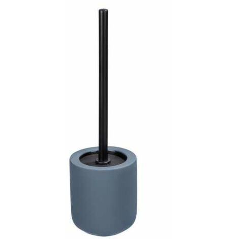Porte brosse WC céramique avec brosse WC noire, Avellino, bleu