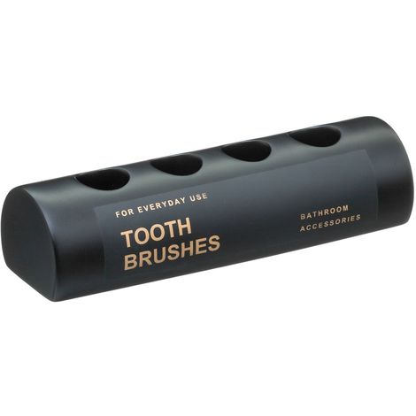 Porte brosses à dents design Black - Noir - Noir