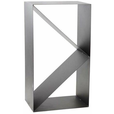 Porte-bûches design 3 compartiments en acier Lodz