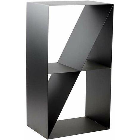 Porte-bûches design 4 compartiments en acier Lodz