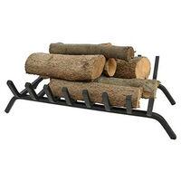 Porte bûches grille pour cheminée en acier 8 barreaux
