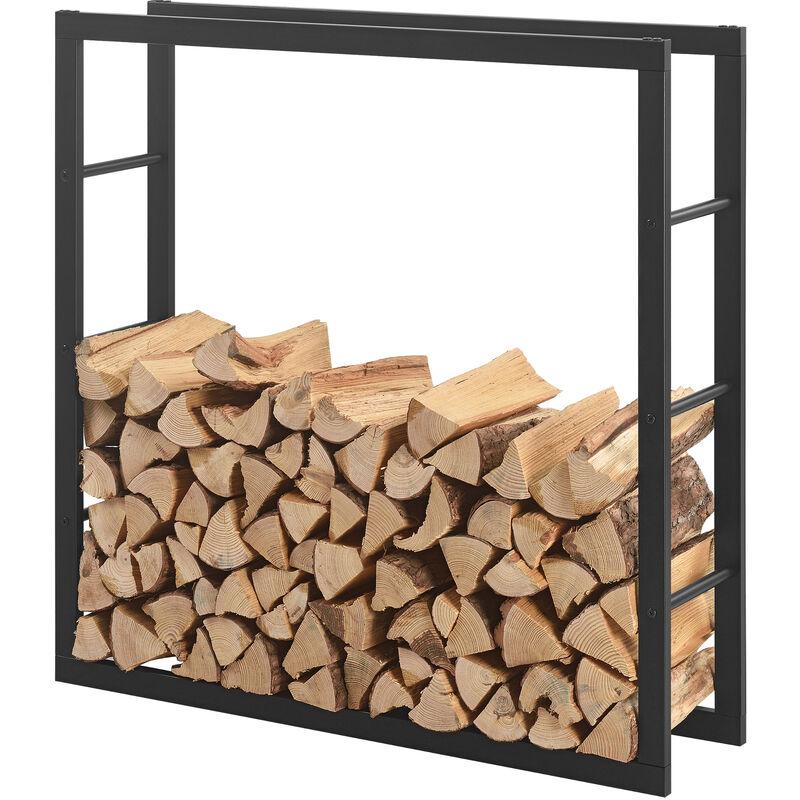 Porte Buches Robuste Range Buches Solide Support Pour Bois De Chauffage Rangement Efficace Pour Interieur Exterieur Acier Laque 100 X 100 X 25 Cm Noir 57591469