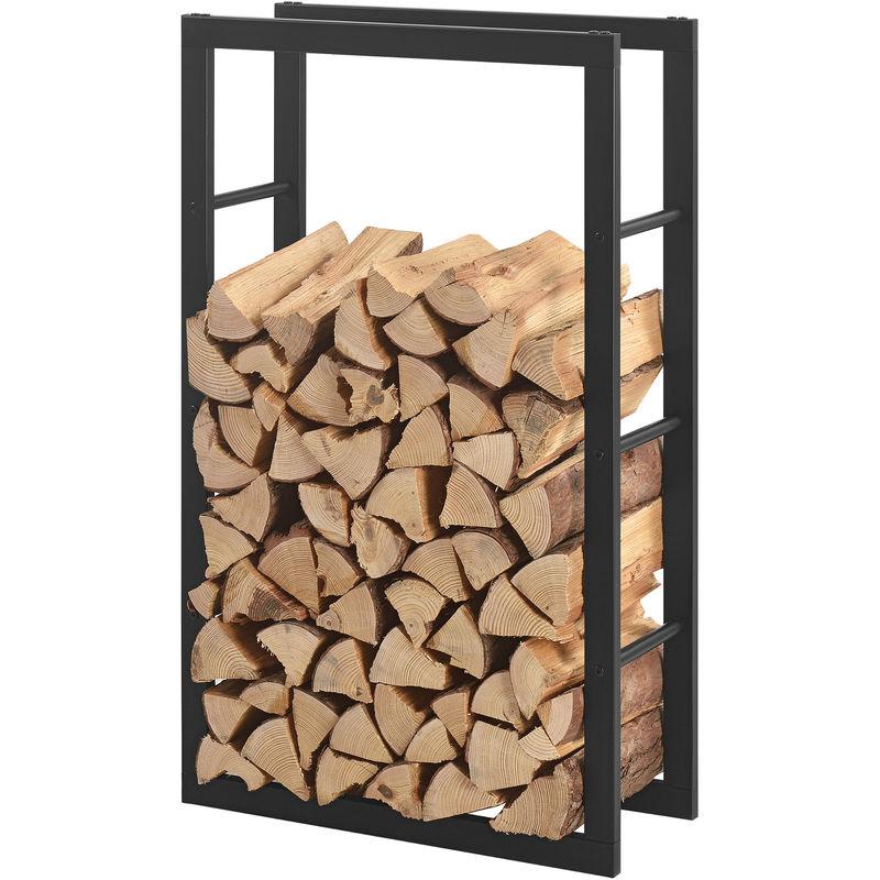 Porte Buches Robuste Range Buches Solide Support Pour Bois De Chauffage Rangement Efficace Pour Interieur Exterieur Acier Laque 60 X 100 X 25 Cm Noir 57591467