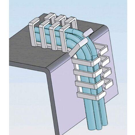 Porte-câble Richco RX2020-4 RX2020-4 20 mm (max) gris 1 pc(s)