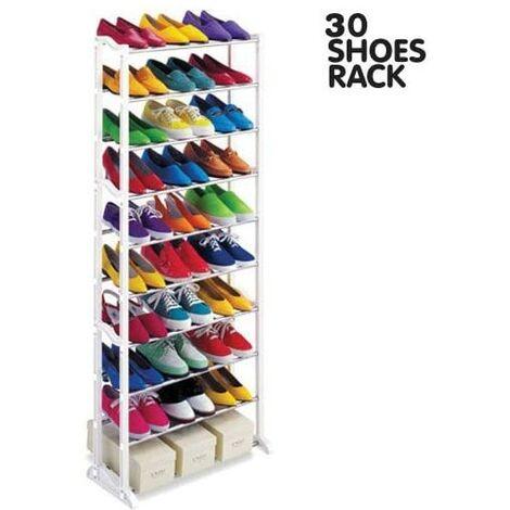 Porte-chaussures Armoire à chaussures jusqu'à 30 paires 10 hauteurs