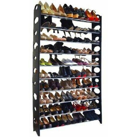 Porte-chaussures organisateur jusqu'à 50 paires 10 étagères 142 x 90 x 20 cm