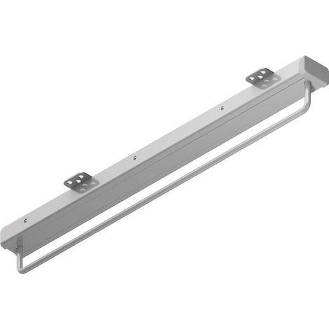Porte-cintres coulissant - acier chromé et pvc gris argent - 15 kg - MENAGE&CONFORT