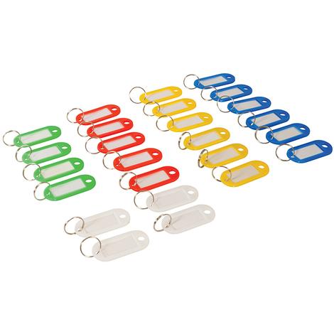 Porte-clés à étiquettes de couleurs assorties (petit modèle), 25 pcs 25 pcs