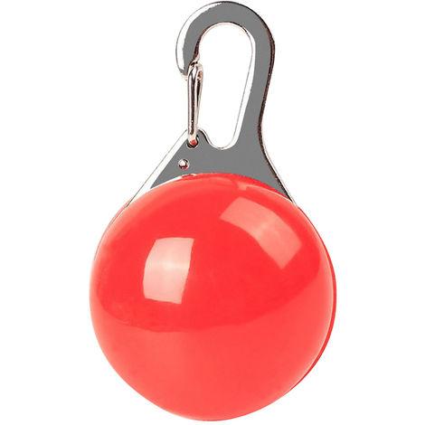 Porte-Cles Collier Pour Animal Domestique, Lumiere Led, 1 Pcs, Rouge