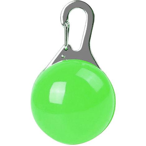 Porte-Cles Collier Pour Animal Domestique, Lumiere Led, 1 Pcs, Vert