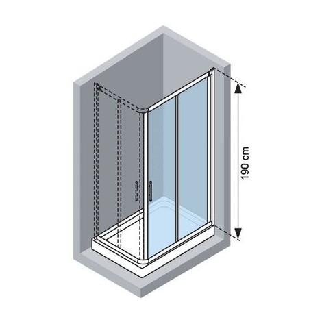 porte coulissante acc s d 39 angle lunes a novellini vitrage. Black Bedroom Furniture Sets. Home Design Ideas