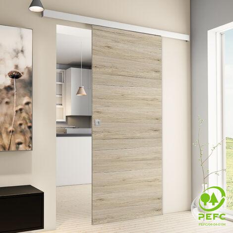 """main image of """"Porte coulissante intérieure Inova, 88 x 203 cm, chêne San Rémo, 2 poignées différentes, fermeture Softclose en option"""""""
