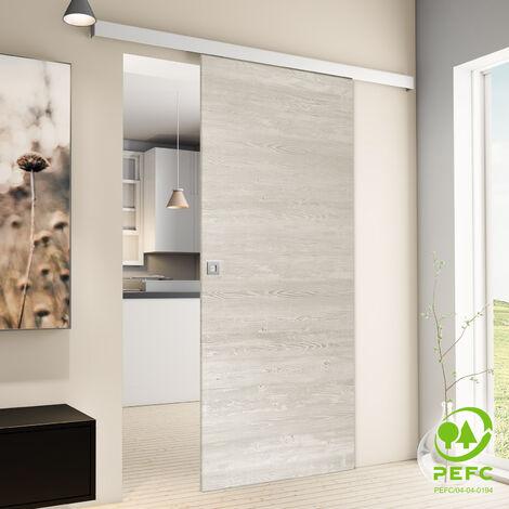 Porte coulissante intérieure Inova, 88 x 203 cm, pin cascina, 2 poignées différentes, fermeture Softclose en option