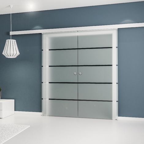 porte coulissante int rieure vitr e inova 176 x 203 cm 2. Black Bedroom Furniture Sets. Home Design Ideas