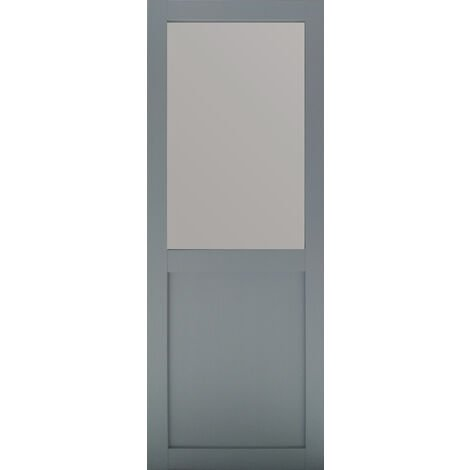 PORTE COULISSANTE MODELE ATHENA STYLE ATELIER EN ENROBE GRIS CLAIR largeur 73