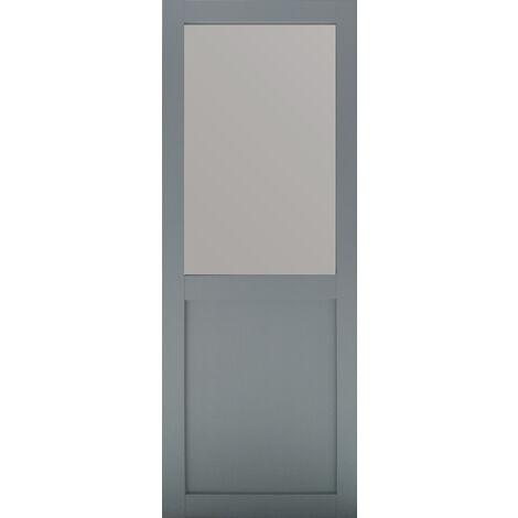 PORTE COULISSANTE MODELE ATHENA STYLE ATELIER EN ENROBE GRIS CLAIR largeur 83