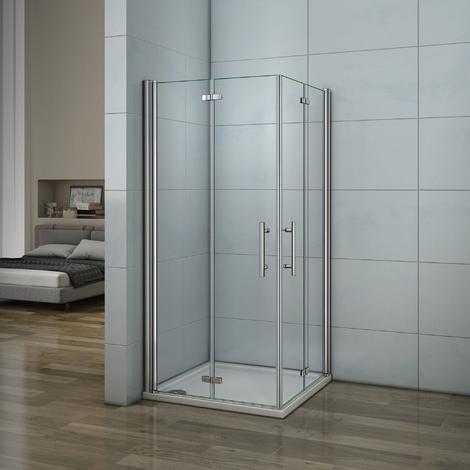 porte de douche 70x70x187cm 2 portes de douche pivotante. Black Bedroom Furniture Sets. Home Design Ideas