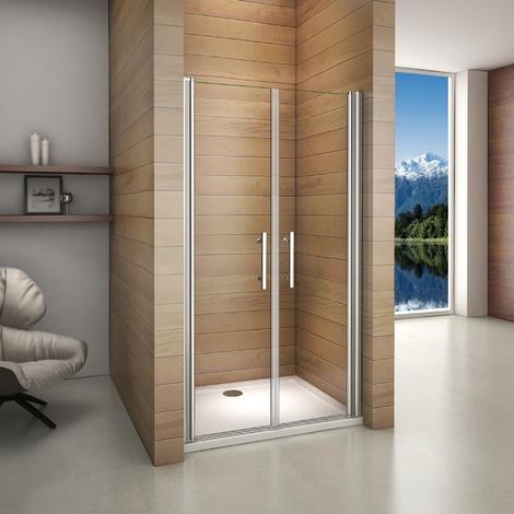 Porte de douche 187cm porte de douche pivotante installation en niche