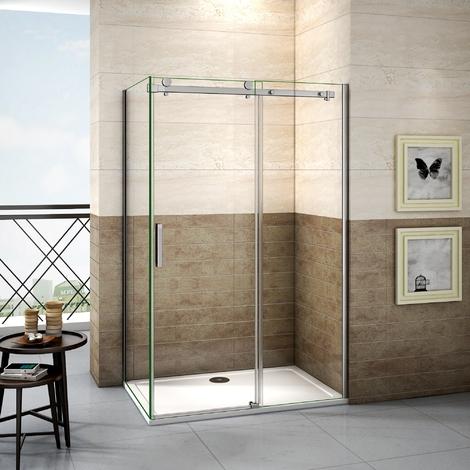 Porte de douche 195cm cabine de douche coulissante cabine de douche en verre anticalcaire