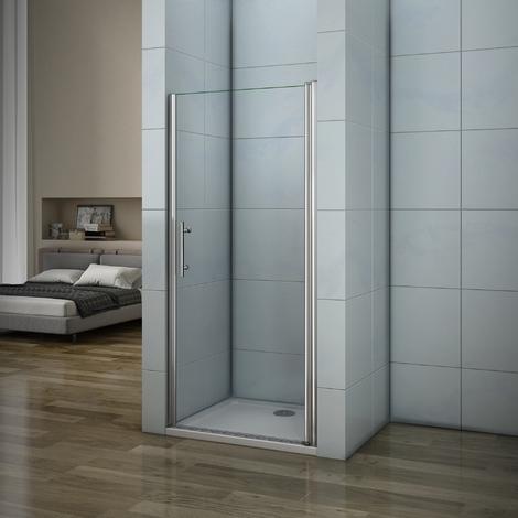 Porte de douche 197cm AICA porte de douche pivotante installation en niche