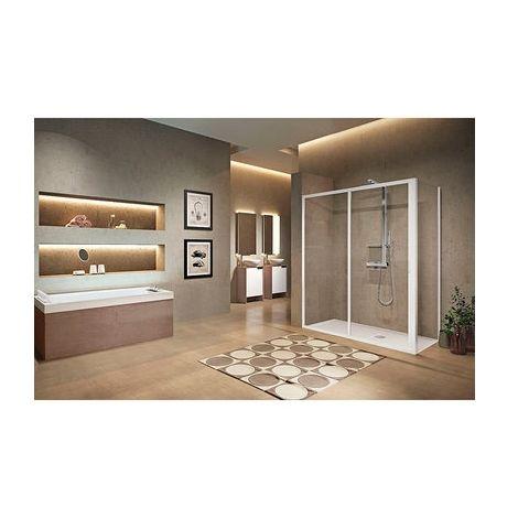 Porte de douche 2 vantaux dont 1 coulissant Lunes 2.0 2P - Novellini