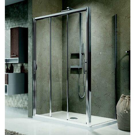 Porte de douche 3 panneaux coulissants Lunes