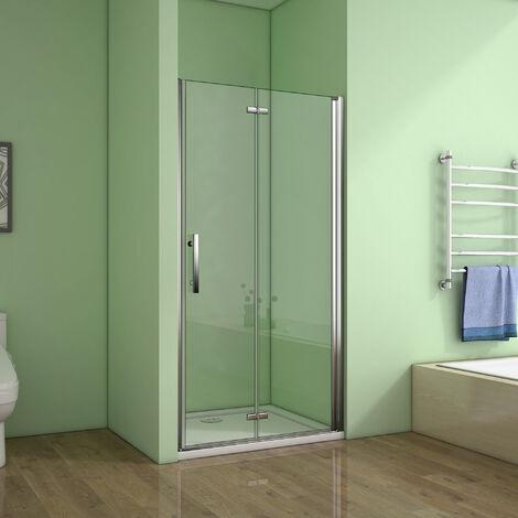 Porte de douche 7 différences largeurs en 185cm porte pivotante et pliante