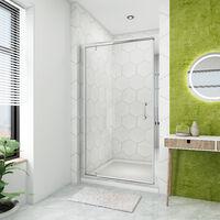 Porte de douche 70-100 cm x 185 cm Porte pivotante en verre securit