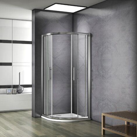 """main image of """"Porte de douche  AICA cabine de douche 1/4rond en verre anticalcaire"""""""
