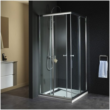 Porte de douche acces angle droit 'philippe' 90x90x190 cm