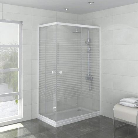 Porte de douche accès d'angle Laia