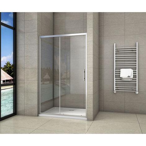 Porte de douche coulissante 110/110/120/130/140/150/160x190cm en niche porte de douche AICA