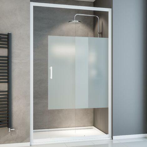Porte de douche coulissante, 120 x 190 cm, verre 5 mm, Sunny, Schulte, 2 mod�les