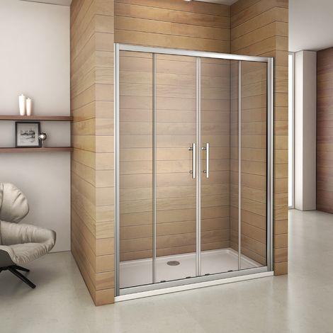Porte de douche coulissante 140x187cm porte de douche - Portes de douche coulissantes ...