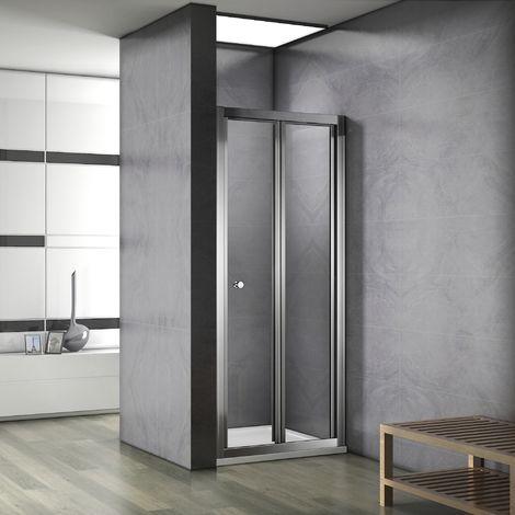 Porte de douche coulissante et pliante en 187cm avec 3 différents largeur