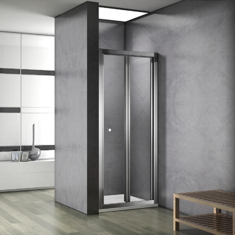 Porte de douche coulissante et pliante en 187cm avec 3 diff�rents largeur