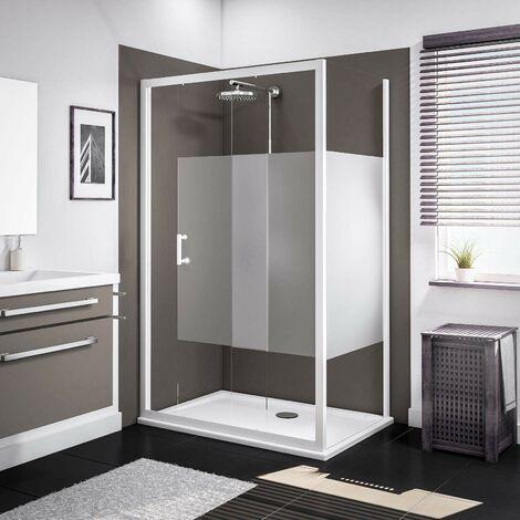 Porte de douche coulissante + paroi latérale, verre 5 mm, Sunny, Schulte, 4 modèles