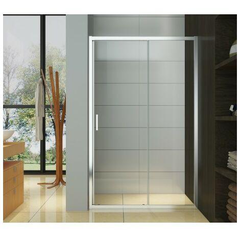 Porte de douche coulissante - profiles chromes - 120 x 195 cm - Balmoral - AZZURO