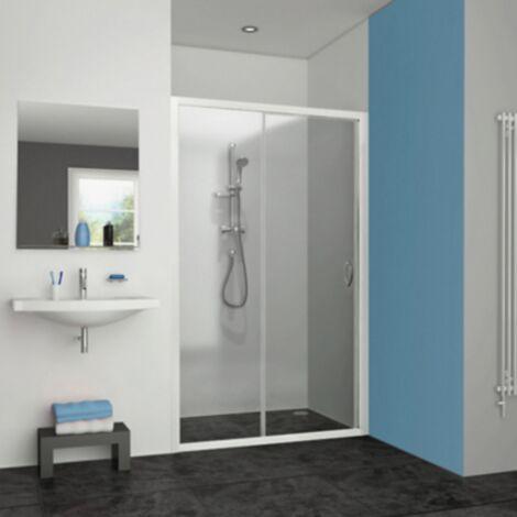 Porte de douche coulissante Pyra Aquance - 2 volets - 120cm - Blanc