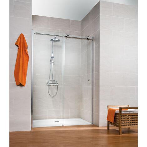 Porte de douche coulissante, verre 8 mm, profil� aspect chrom�, MasterClass, Schulte, 3 dimensions au choix