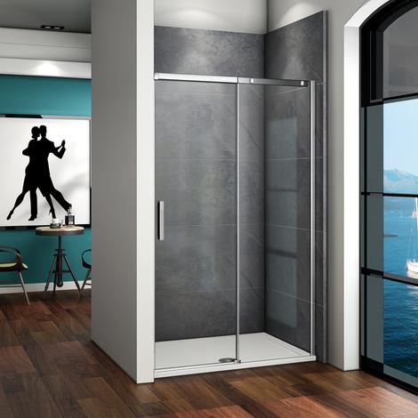 Porte de douche coulissante verre anticalcaire 4 diff�rents largeurs