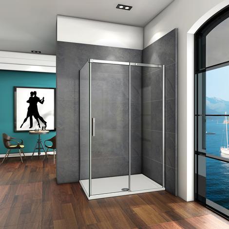 Porte de douche coulissante verre anticalcaire AICA Cabine de douche