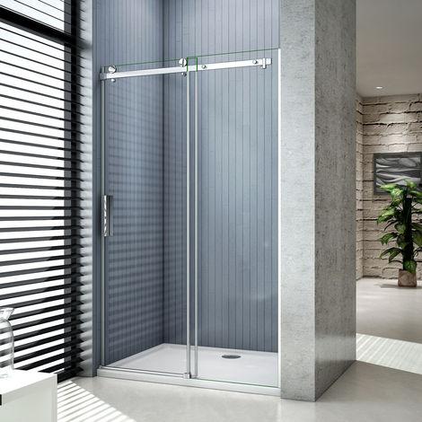 Porte de douche coulissants 195cm cabine de douche verre anticalcaire