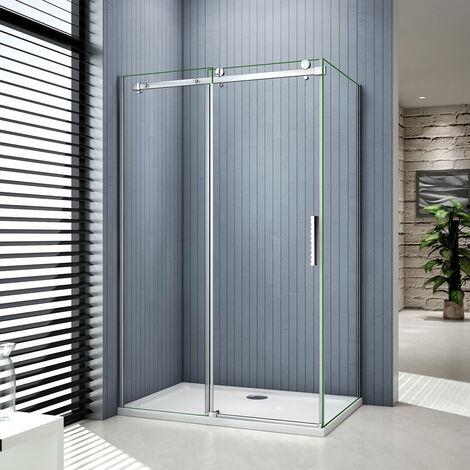 Porte de douche coulissants cabine de douche verre anticalcaire paroi de douche
