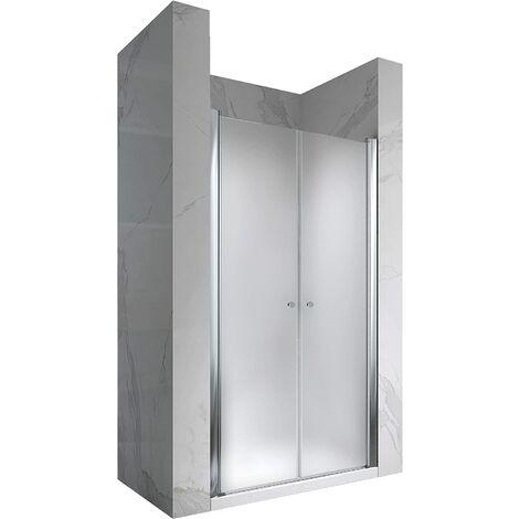 Porte de douche hauteur 195 cm - verre opaque