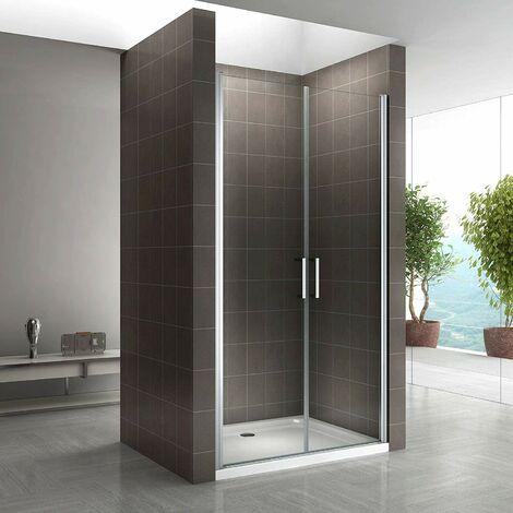 Porte de douche NC hauteur 180 cm - verre transparent