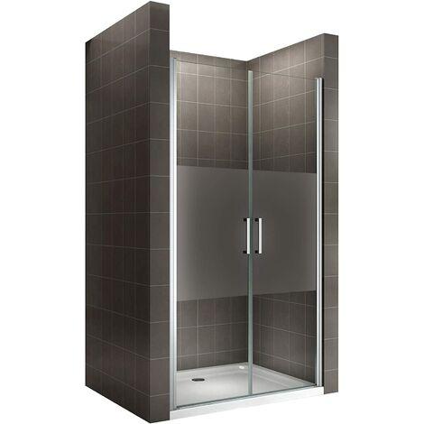 Porte de douche NF hauteur 180 cm - verre OPAQUE