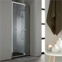 Porte de douche pivotante 100 cm en inox chromé
